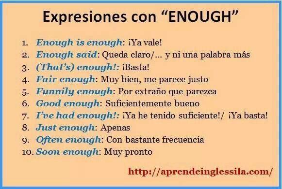 Expresiones con ENOUGH