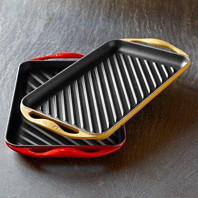 Le Creuset Cast-Iron Rectangular Skinny Grill #williamssonoma