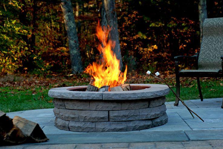 Best 25+ Stone fire pit kit ideas on Pinterest | Outdoor ...