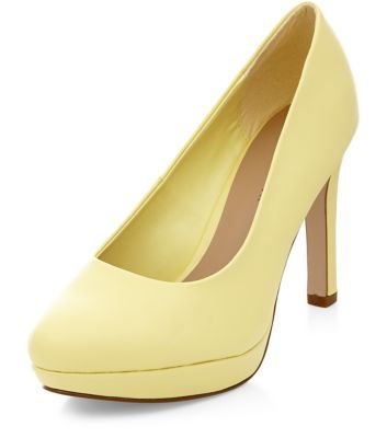 Wide Fit Yellow Court Shoes