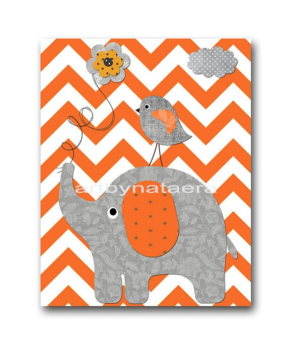 Elephant Nursery Kids wall art Baby Nursery Decor