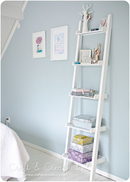 love this shelf.... and remember to cover boxes with wrapping paper or scrap book paper for extra storage!!!