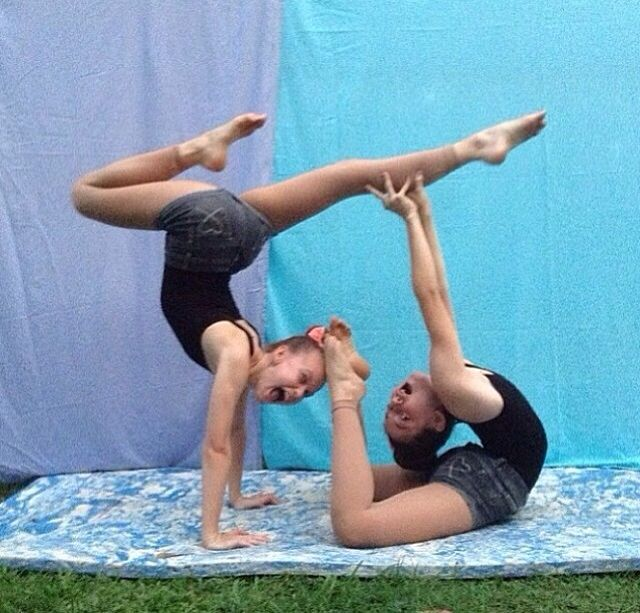 This is really cool!!! 2 person stunts