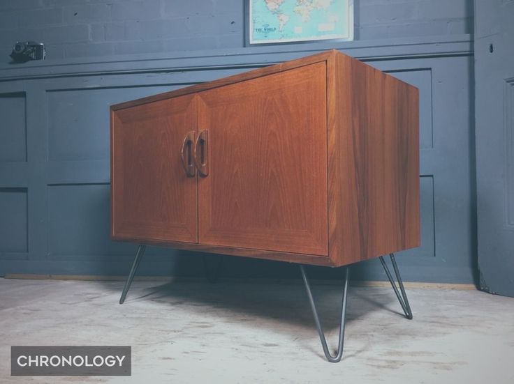 Vintage Retro G PLAN TEAK Cabinet Sideboard Hairpin Legs Mid Century Danish
