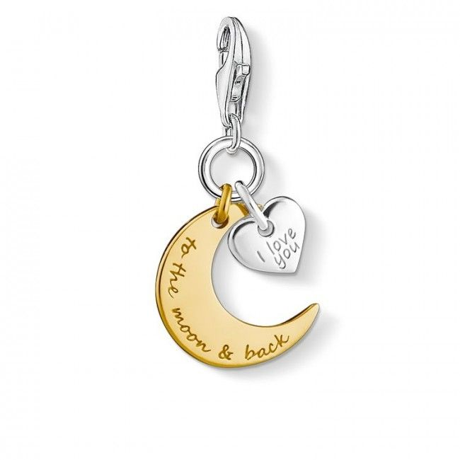 Thomas Sabo Charms I love you to the moon & back - Kultatähti.fi verkkokauppa