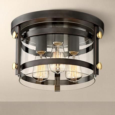 Eagleton 13 1 2 wide oil rubbed bronze ceiling light style 1g439