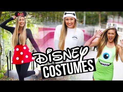 DIY DISNEY/PIXAR HALLOWEEN COSTUMES: Baymax, Minnie & Monsters Inc. | LaurDIY - YouTube