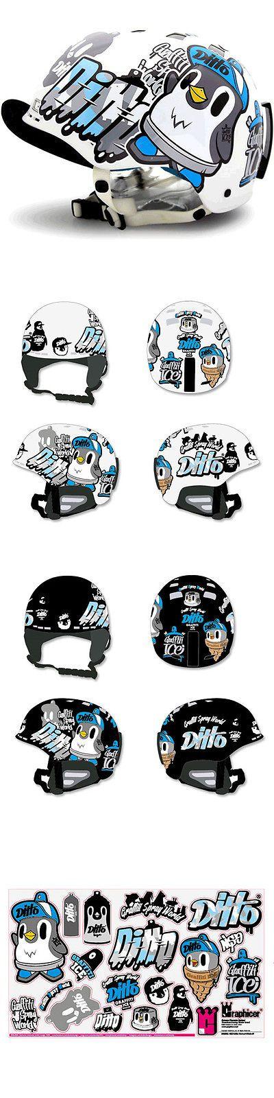 Helmet Accessories 177865: Motorcycle Helmet Decal Sticker Snowboarding Biker Hard Hat Stickers - Ditto 01 -> BUY IT NOW ONLY: $38.9 on eBay!