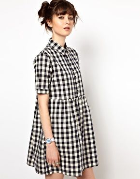 Enlarge The WhitePepper Gingham Check Shirt Dress