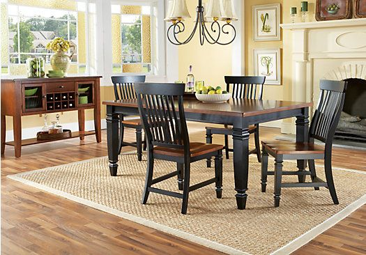 Shop For A Cindy Crawford Home Black California Cottage Leg 5 Pc Dining Room