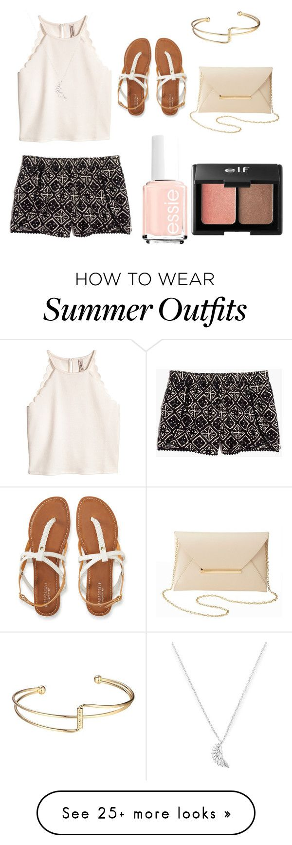"""""""Summer Outfits #1"""" by cydneydjones on Polyvore featuring Aéropostale, Madewell, Estella Bartlett and Charlotte Russe"""