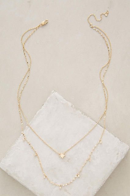 Poemas Layer Necklace - anthropologie.com | Dainty Gold | Jewelry