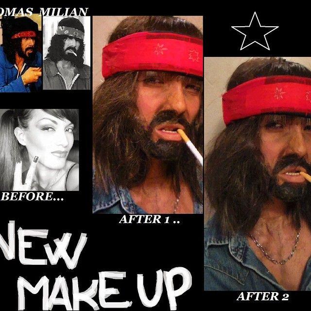 Carnival make-up 2015 ! Tomas Milian #actor #carnival #makeup #tomasmilian #silvynewmakeup #beforemakeup #aftermakeup #idea #crazymakeup #silviabracaglia #Facebook #man #girl #specialeffect #mua #films #cinecitta #rome #cine #tv #ispettoregiraldi #movie #photo #action #celebrity #famous #vip #delitto #seriestv