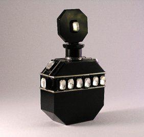 Vintage 1930s Jeweled Czech Perfume Bottle