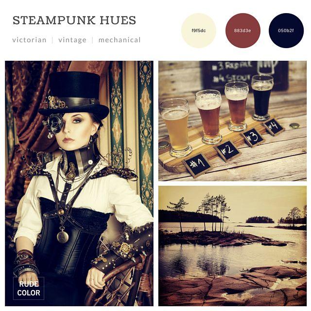 #2016 #color #trends #combinations #schemes #design #web #graphic #interior #architecture #inspiration #mood #board #collage #steampunk