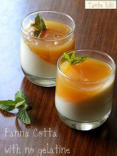 Πανακότα λεμονιού χωρίς ζελατίνη