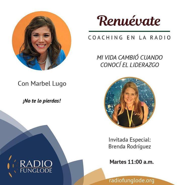 Promo programa:  HOY Martes 11am RENUEVATE COACHING EN LA RADIO...estamos online por la aplicación Tune In desde tu celular o por http://ift.tt/1Abi79t o por http://ift.tt/1F8bzd1.  Marbel Lugo  hoy hablando de cómo el Liderazgo puede cambiar vidas.  No te lo pierdas! Puedes escuchar los programas anteriores en ivoox-> podcasts-> renuevate coaching en la radio.  Síguenos en las redes: Instagram/Facebook- Renuevate Coaching en la Radio Twitter- Renuevatedo #renuevate #cambiodevida