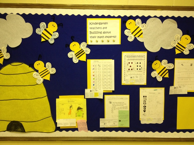 Bumblebee bulletin board! Made by my crafty sister!