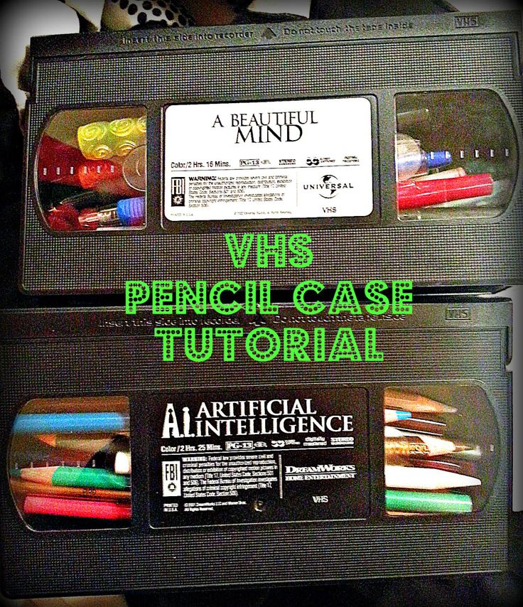 VHS pencil case #upcycle #easy #diy                                                                                                                                                                                 Más