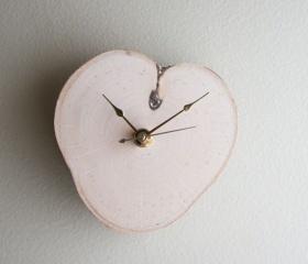 Relax White Birch Clock