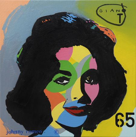 Johnny Romeo  Giant 65 - 2013   Acrylic and oil on canvas   71 x 71 cm