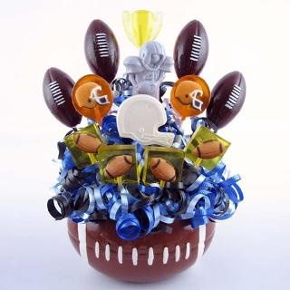 Football Themed Party ideas...could do this with cake pops, too.