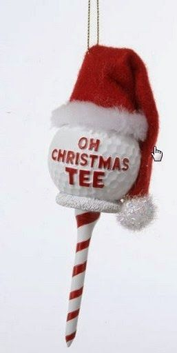 Ready for Christmas? Here's a really cute golf theme idea for Christmas decors!