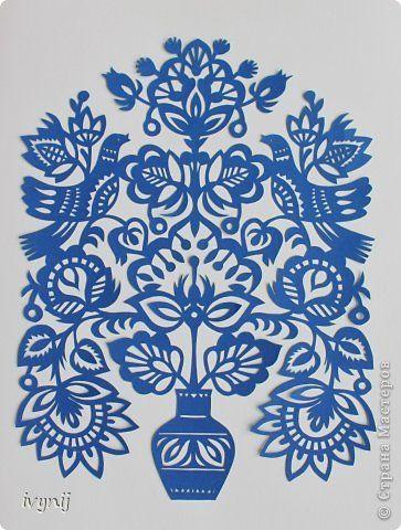 Картина панно рисунок Вырезание Вытынанка Бумага фото 1