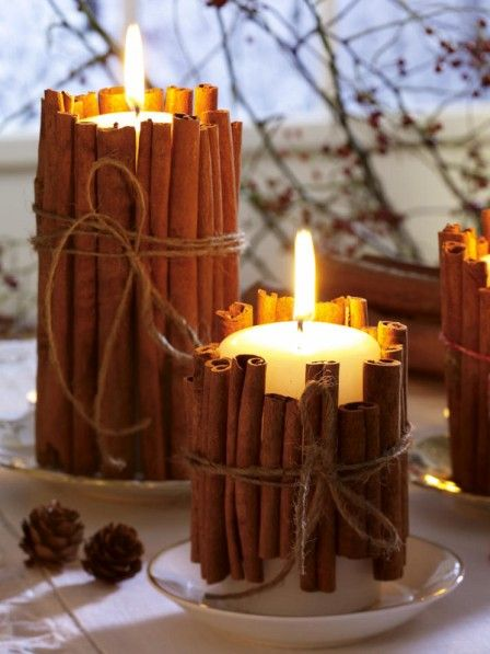 Cinnamon Candles diy - Velas con canela - Fall - Autumn - Otoño