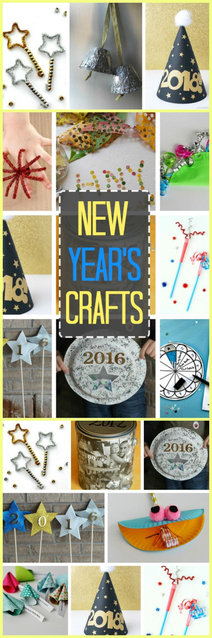 A fun way to build up excitement is to make some homemade New Year's crafts and talk about your favorite parts of the past year and what you're most looking forward to for the next year.