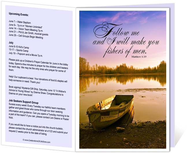 14 best Printable Church Bulletins images on Pinterest | Church ...