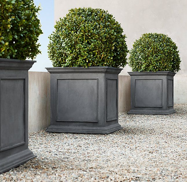 RH's Estate Zinc Framed Panel Planter:Recalling pots from 19th-century English and Belgian estate gardens, these stately planters are crafted in a family-owned workshop in Bulgaria.