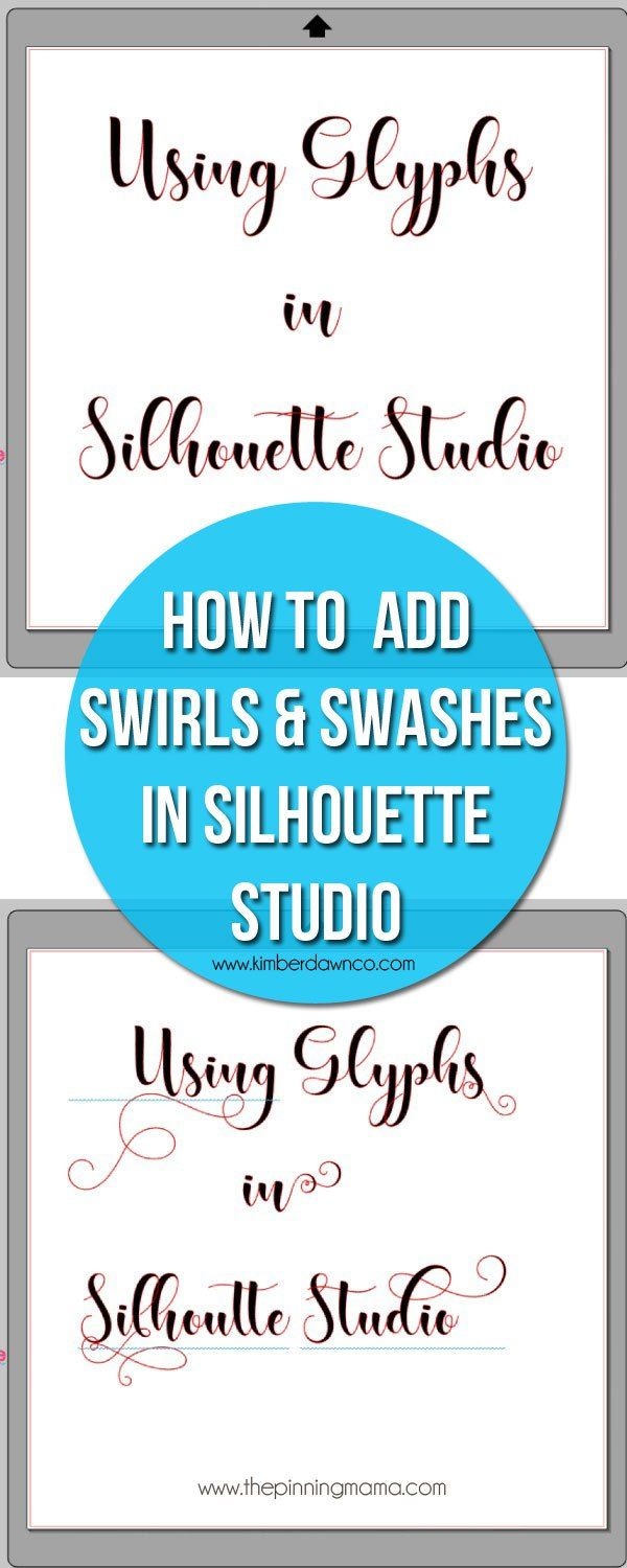 How to use glyphs in Silhouette Studio - Step by Step Instructions