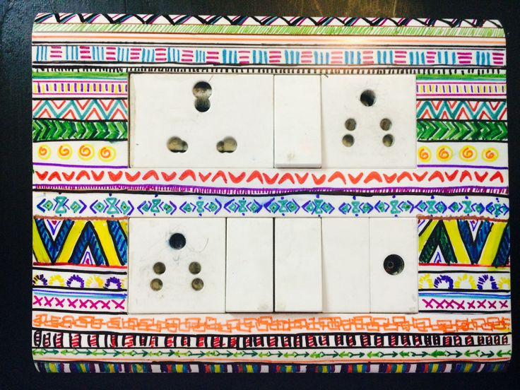 DIY sharpies switch board.... creative ways to decorate!