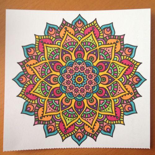 Het enige echte mandala kleurboek om te versturen