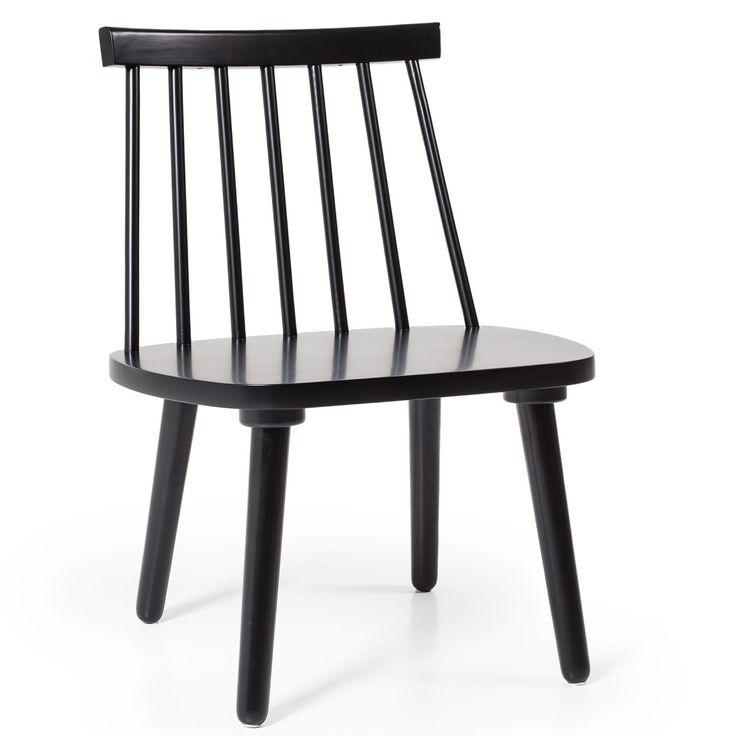 Wood loungestol H19, svart i gruppen Rum / Hall / Hallmöbler hos RUM21.se (124331)