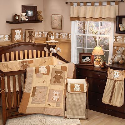 Eddie Bauer 4 Pc Teddy Bear Crib Set Rustic Baby