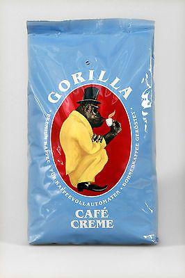 GORILLA CAFÉ CREME, 1 kg ganze Bohnen MHD bis 15.04.18! Der Gorilla Cafe Creme unter den Espresso GORILLA's. Ausgesprochen fein im Ansehen, edel, kräftig und sehr aromatisch im Geschmack. www.kaffeeshophelo.de  #Espresso #Kaffee #Cafe #ganze Bohnen