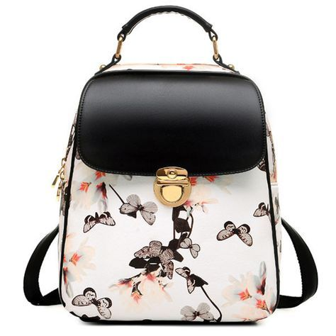 Fresh Girl Butterfly Flower School Bag Casual Backpack
