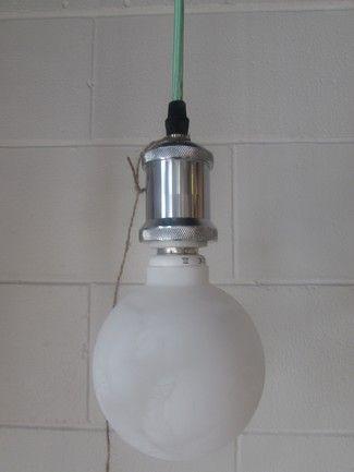 Mr Ralph - Silver Bare Bulb pendant, Pendants