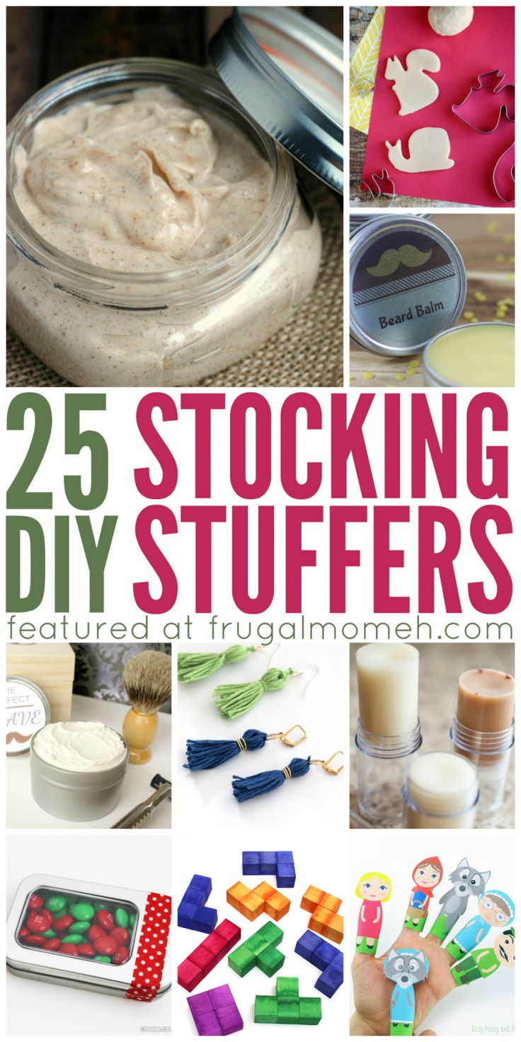 DIY Stocking Stuffers anyone can make that your family will love receiving! There are some great diy stocking stuffers here that cover mom, dad and kids!