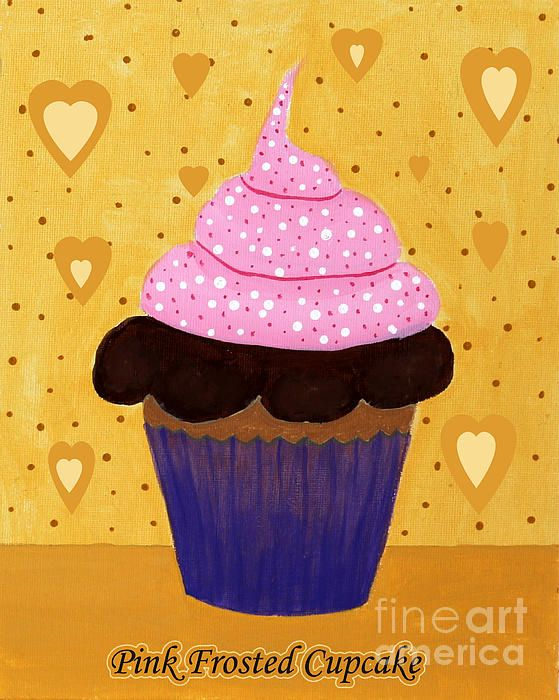 Pink Frosted Cupcake by Barbara Griffin.