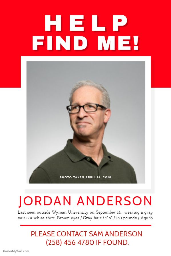 Missing Person Poster Red And White Missing Posters Poster Template Social Media Graphics