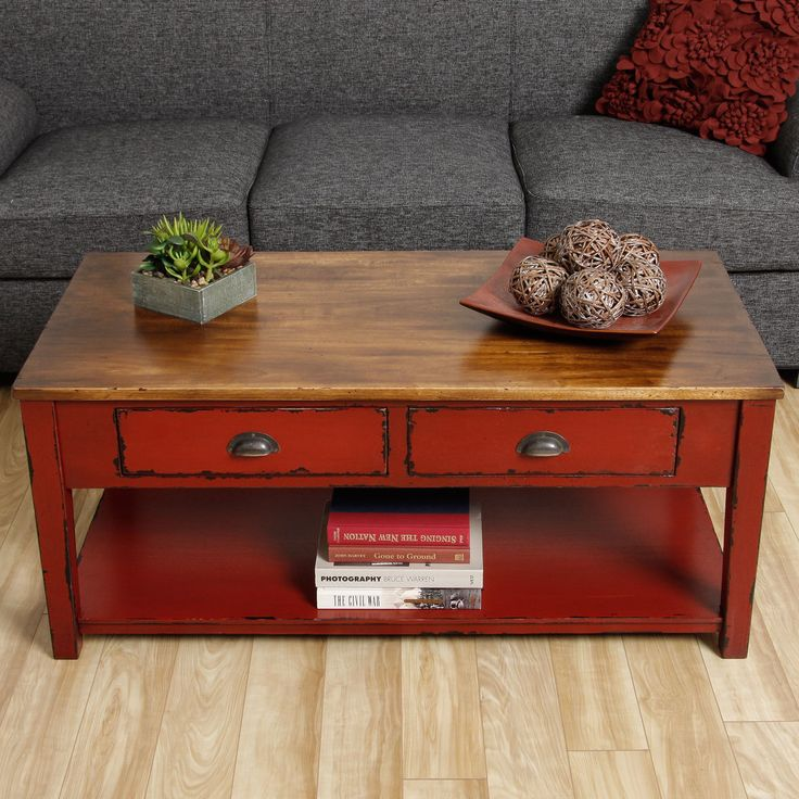 Cape Red Coffee Table (Indonesia) - Overstock™ Shopping - Top Rated Coffee, Sofa & End Tables