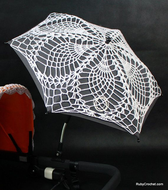 Crochet parasol cover for Bugaboo strollers by RubyCrochetShop