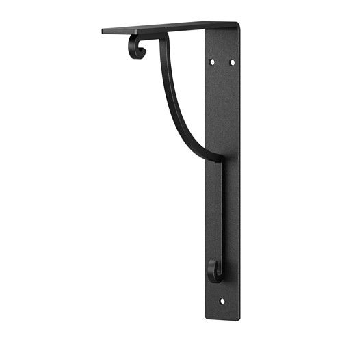 IKEA - EKBY HÅLL, Bracket, , Reversible – fits both 7 1/2 and 11. $4.  Screw onto a shelf and use as a shelf divider in the linen closet