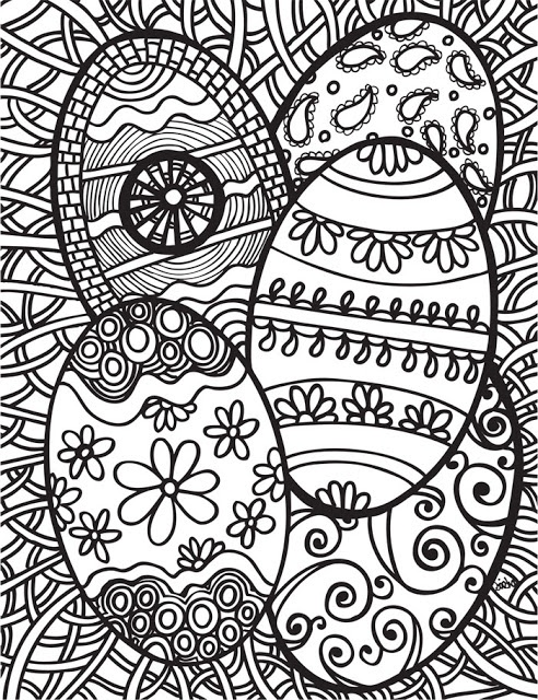 abstract easter egg coloring pages - photo#3