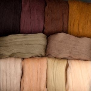 Merino Wool Roving Solid Color Neutrals