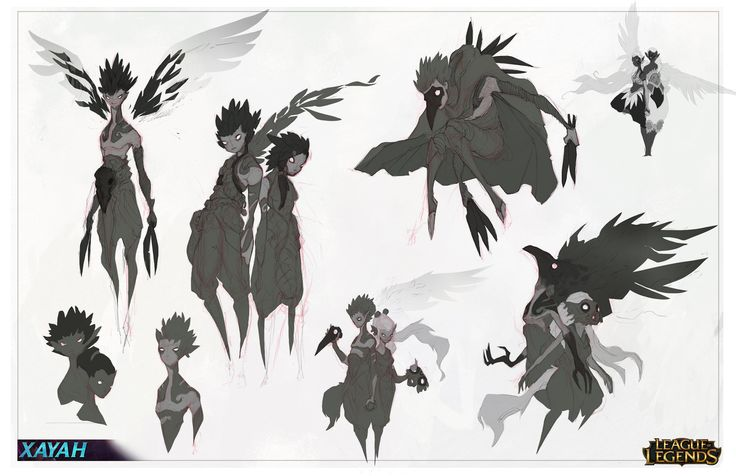 Xayah Character Design : Best anthropomorphous character references personajes