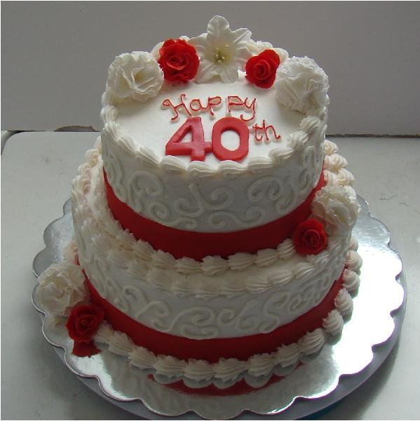 40th anniversary cake sweet memories pinterest red for 40th anniversary decoration
